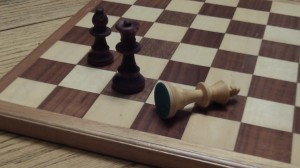 A fallen king can sometimes get back up again, in life, even if not in chess.