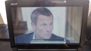 Lance Armstrong on Oprah Winfrey's program.