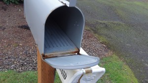 On Saturdays our mailboxes may be nice and empty.