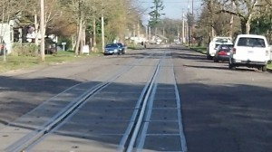 This is the track covered by the agreement between the city of Albany and BNSF.