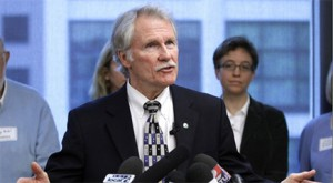 Gov. Kitzhaber, here in a photo on his official website, is taking a principled stand -- haflway.