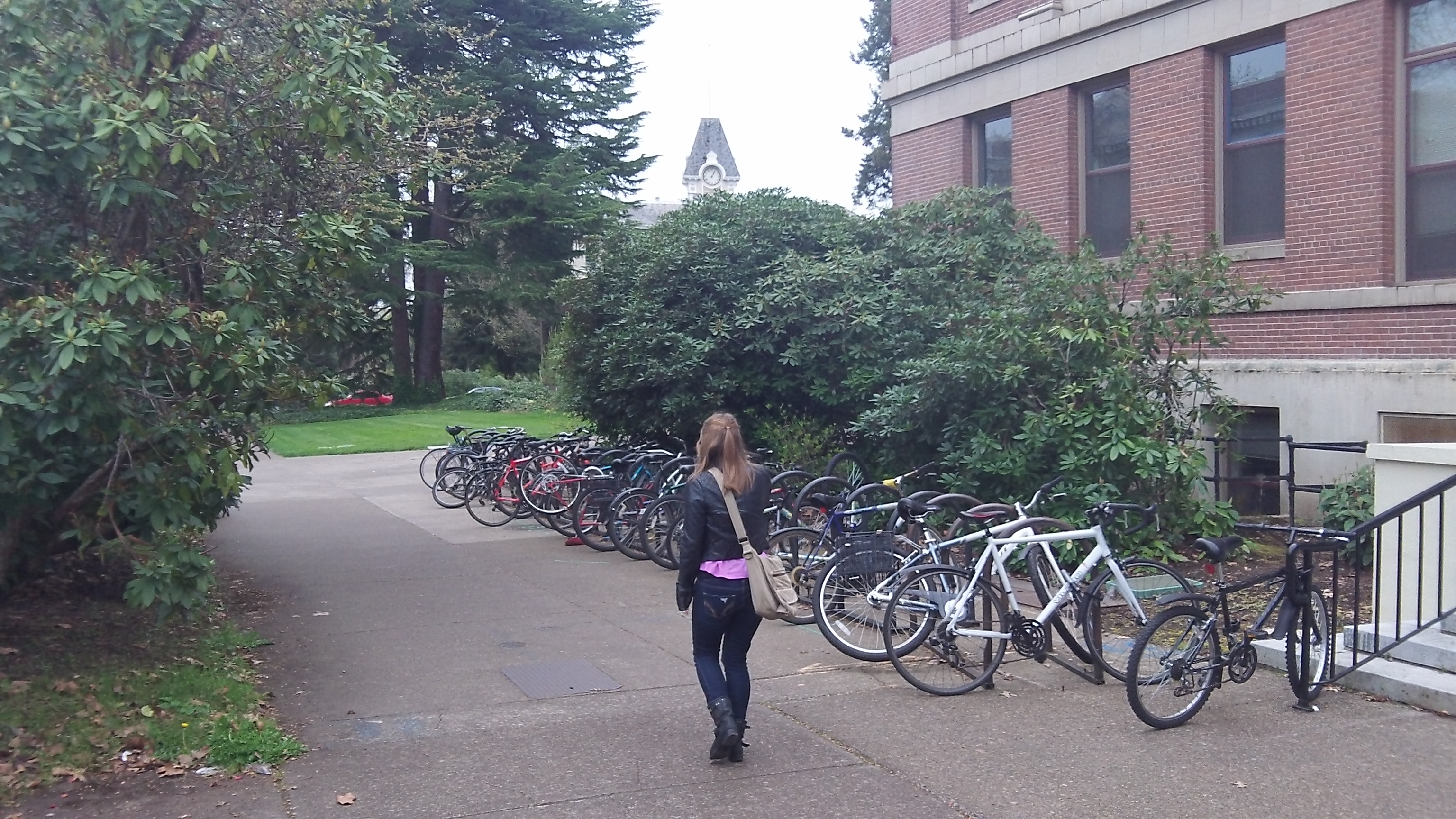 On the campus of Oregon State.