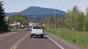 Marys Peak, seen from the road heading to Philomath.