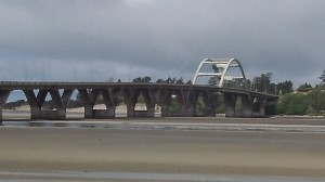 The Alsea Bay Bridge is getting a paint job and other work done.