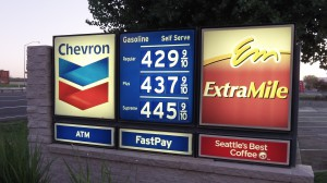 Last summer's gas prices in Calfiornia, whose fuel standard Oregon is trying to imitate.