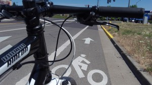 There's a reason for the arrow in the bike lane graphics.