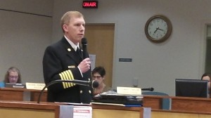 Fire Chief John Bradner, shown in a file photo, updated the council on real estate for Station 11.