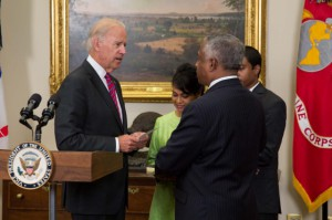 VP Joe Biden swore in B. Todd Jones as ATF director. (White House photo)