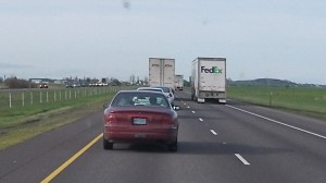 On I-5 in Oregon, we tend to plod along at a comparatively sedate pace.
