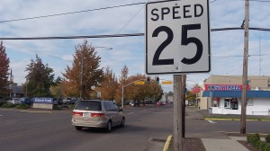 ODOT says the speed limit on Lyon Street should be 20, not 25.