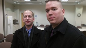 Brothers Matt, left, and Greg Bechtel offered to help the council on the marijuana issue.