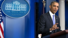 A White House photo of President Obama speaking last November.
