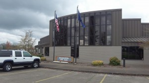 The Millersburg City Hall, where a weighty power issue is being considered.