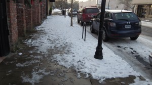 Sidewalk clearing was not evident everywhere.