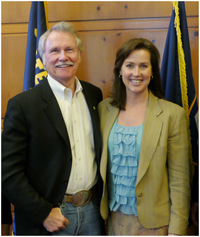 Governor Kitzhaber and Cylvia Hayes as shown on the governor's website.