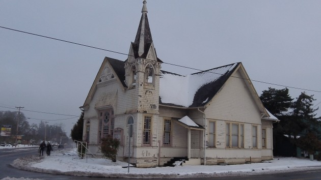 The old Cumberland Presbyterian Church at Main and Santiam in Albany.