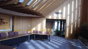 Light and airy: Where the Millersburg City Council meets.