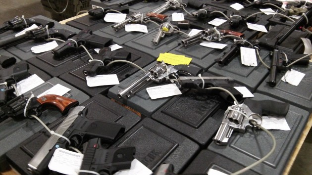 You could not buy any of these items at a recent Albany gun show without submitting to a background check.