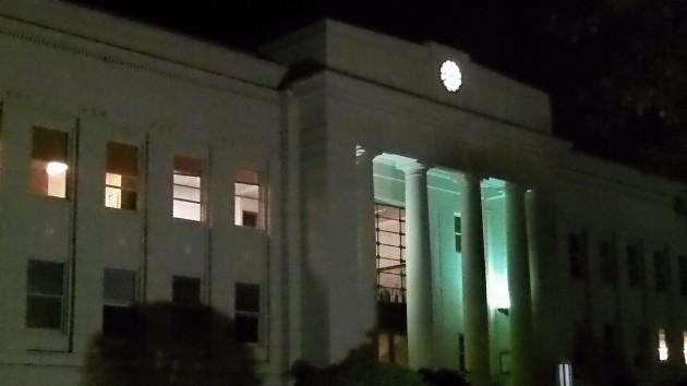 "The Linn County courthouse. An ordinance to ban marijuana ""facilities"" has been prepared."