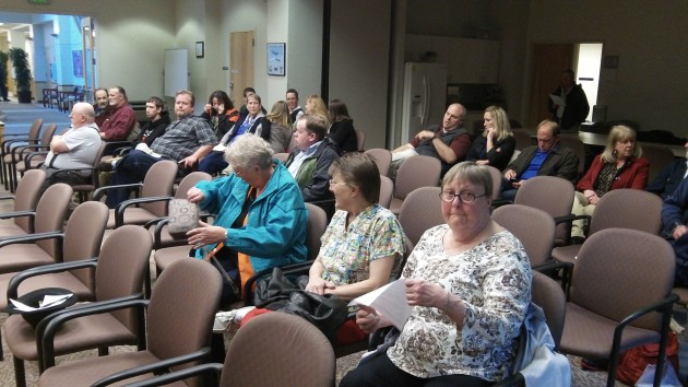 The audience at Wednesday's council session. Only some were there for the marijuana decision,