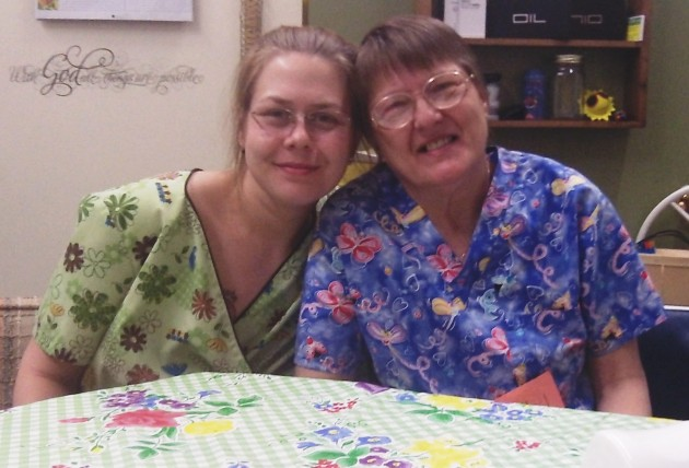 Kendra Ludahl and her mother, Rhea Graham, at Canna Kitchen.