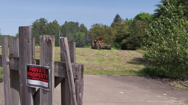 Vegetation was being cleared on the site Wednesday.