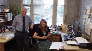 Linn County Clerk Steve Druckenmiller and Chief Deputy Marcie Richey.