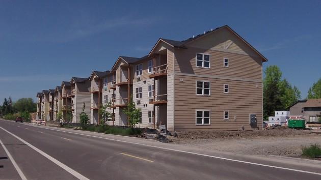 The Oak Street Apartments on, you guessed it, Oak Street.