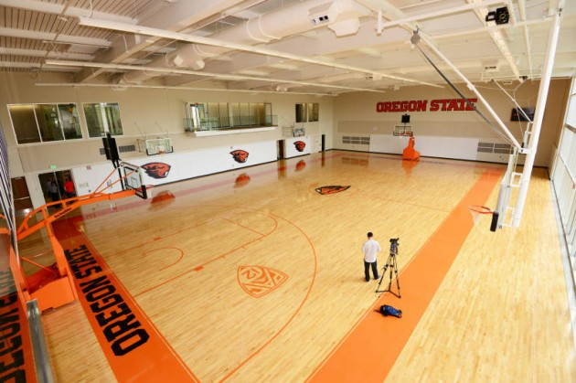 The men's practice court in the  OSU basketball center, which opened in 2013. (OSU photo)