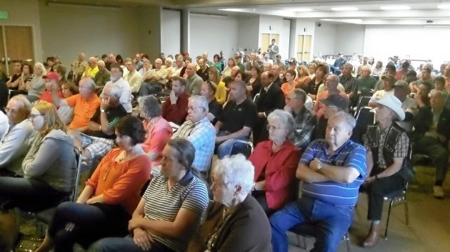 Part of the crowd at Tuesday's hearing on the proposed Millersburg electric power takeover.