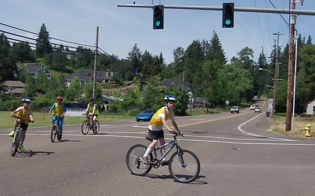Making a left toward North Albany Middle School.