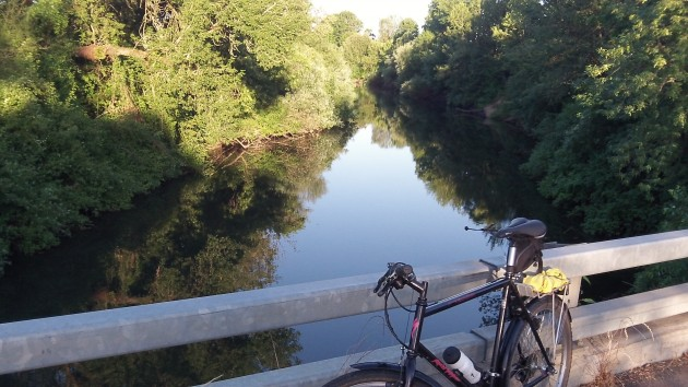 The Luckiamute downstream from Buena Vista Road.