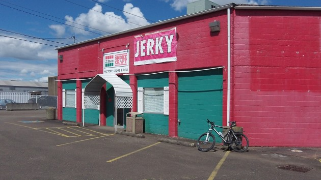 The Oberto company's former factory store and deli on Pacific Boulevard.