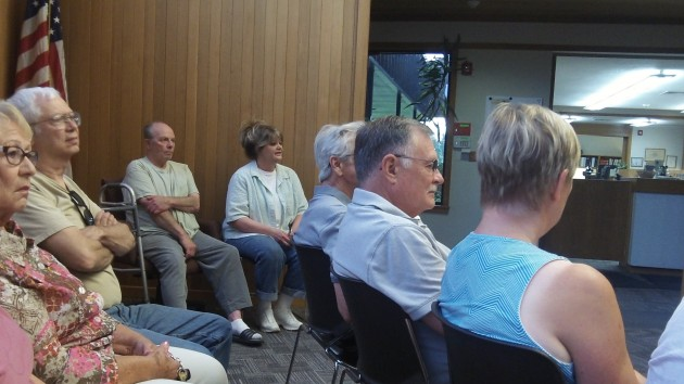 Part of the Millersburg council's audience Monday night.