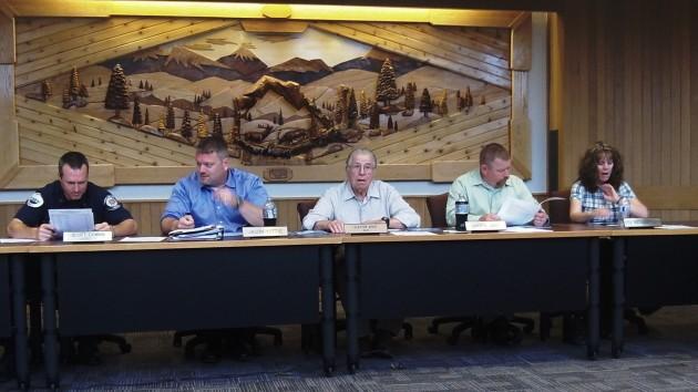 From left are council members Scott Cowan, Jason Yutzie, Mayor Clayton Wood, Darrin Lane and Lisa Metz-Dittmer.