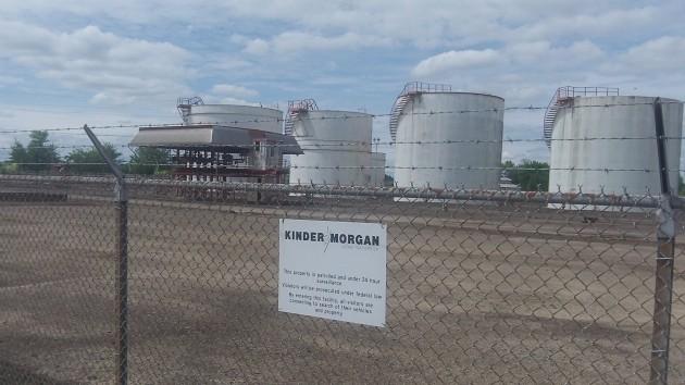 The Kinder Morgan pipeline terminal in Millersburg.