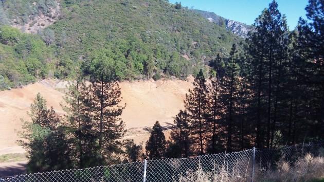 This arm of Shasta Lake was bone dry two weeks ago.
