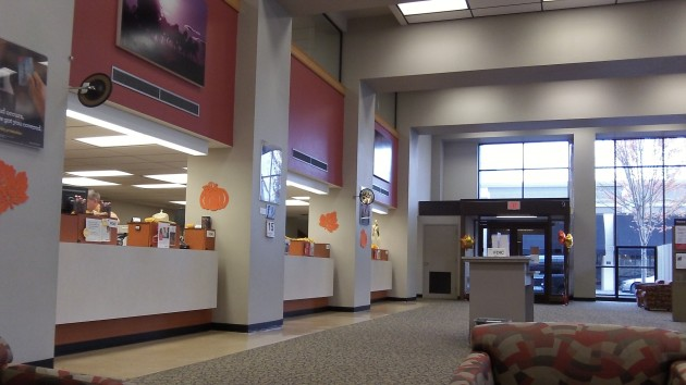 The inside of a bank: Here they take money seriously. In government, not so much.