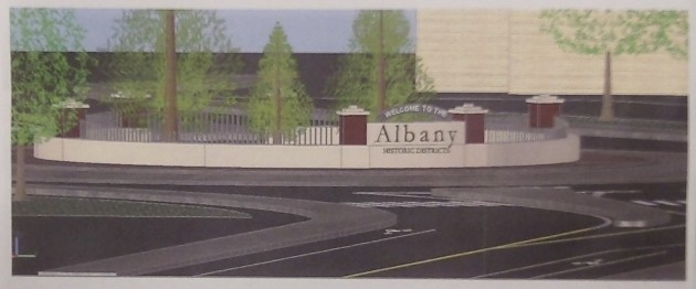 "The sign, ""Welcome to the Albany historic districts,"" will face Salem Avenue."