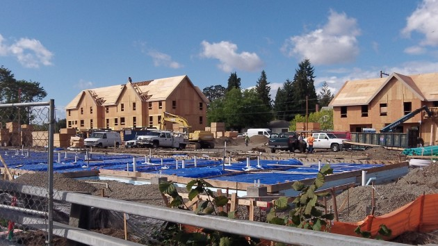 The  construction site from about the same vantage point on Sept. 30.