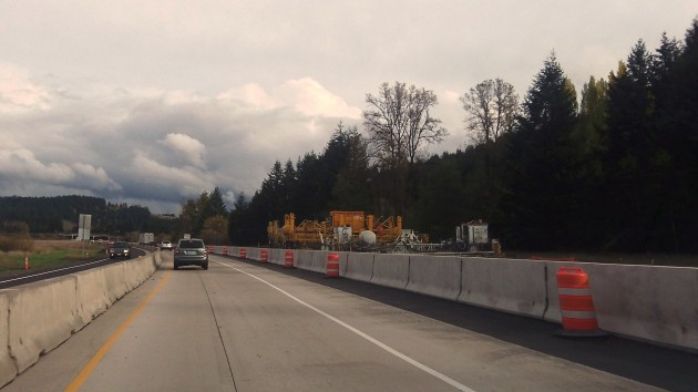I-5 south of Cottage Grove was being rebuilt this year.