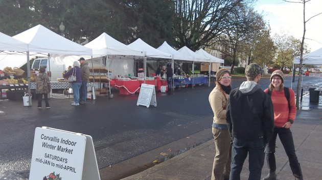 The sun came out for the end of the Albany Farmers' Market season.