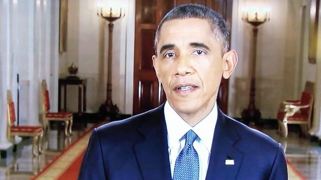 President Obama during his televised address on Thursday.