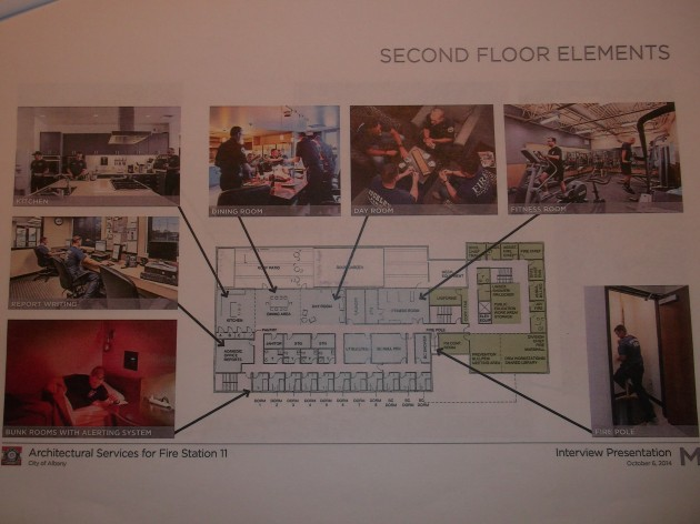 One of the pages from the fire station floor plan.