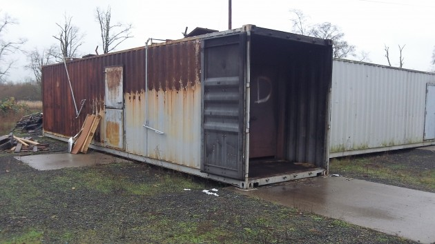 These containers don't look like much but offer better training for fighting actual fires.