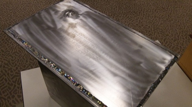 "The time capsule is made of titanium that will ""last forever."""