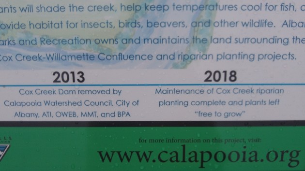 Conservation projects are listed along with their approximate dates.