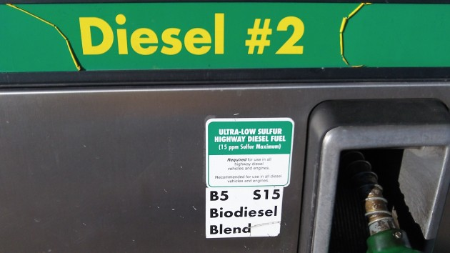This is B5, not B20, so it costs 30 cents a gallon more.