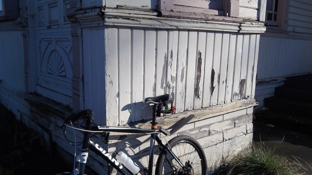 Lead paint -- not bike parking -- is among the building's issues.