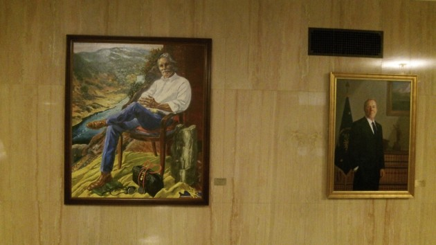 Kitzhaber's official portrait dwarfs that of his successor and predecessor.